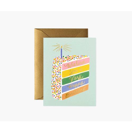 Rifle Paper Co. Verjaardagskaart Cake Slice