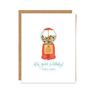 1Canoe2 Wenskaart Gumball Birthday