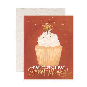 1Canoe2 Wenskaart Birthday Cupcake