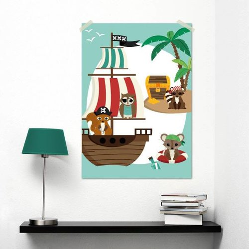 Oktoberdots A3 Poster Piraten