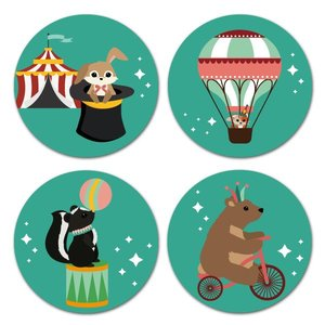 Oktoberdots Set Stickers Woodland Circus