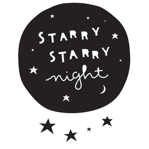 A Little Lovely Company Muurstickers - Starry Night