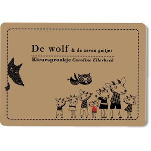Caroline Ellerbeck Kleursprookje De wolf en de 7 geitjes