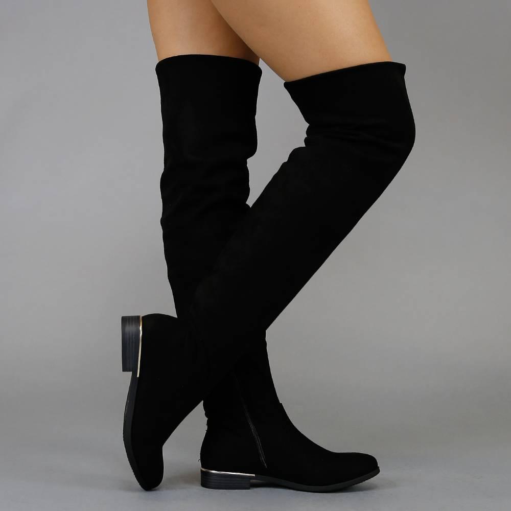 Over de knie laarzen | Silhouette Schoenen | Hoge Hakken