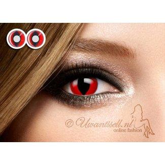 OP=OP Crazy-Lenzen: Red Cat Eye Lenzen