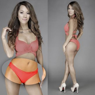 !SALE Mix & Match Bikini Broekje met Plooi Rood