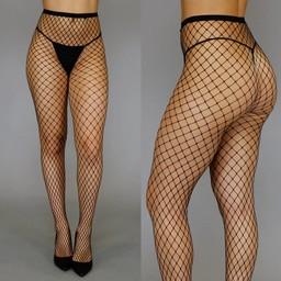 Fashion Big Fishnet Panty Zwart