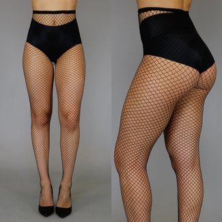 Fashion Small Fishnet Panty Zwart