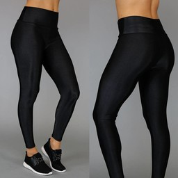 Zwarte High Waist Glam Legging