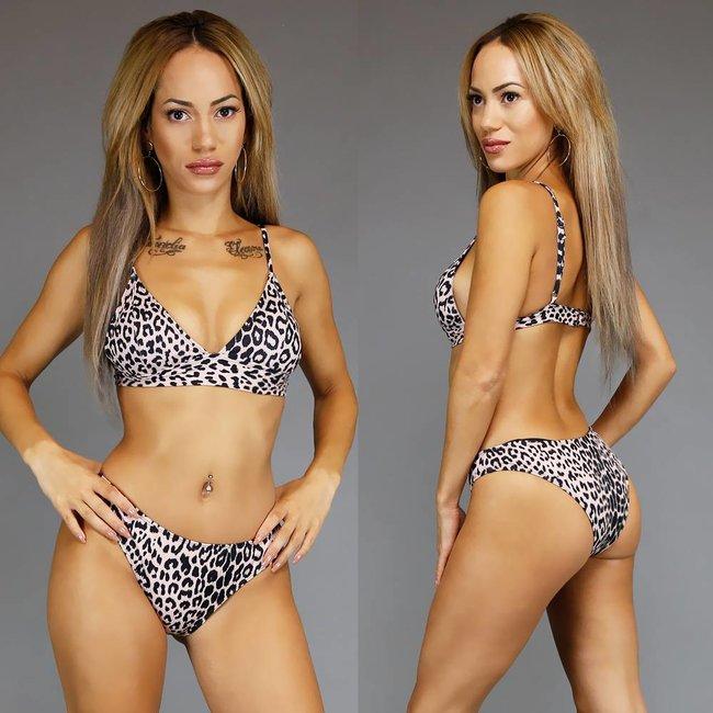 Trendy Luipaardprint Triangel Bikini
