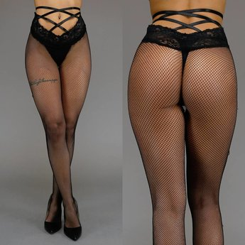 Small Fishnet Panty met Straps