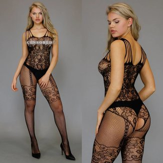 Sexy Bodystocking met Strappy Schouders