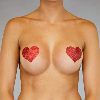 NEW0304 Red Hearts Tepelbedekker