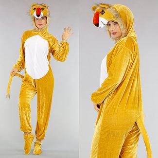 C Fluweel Look Leeuw Kostuum