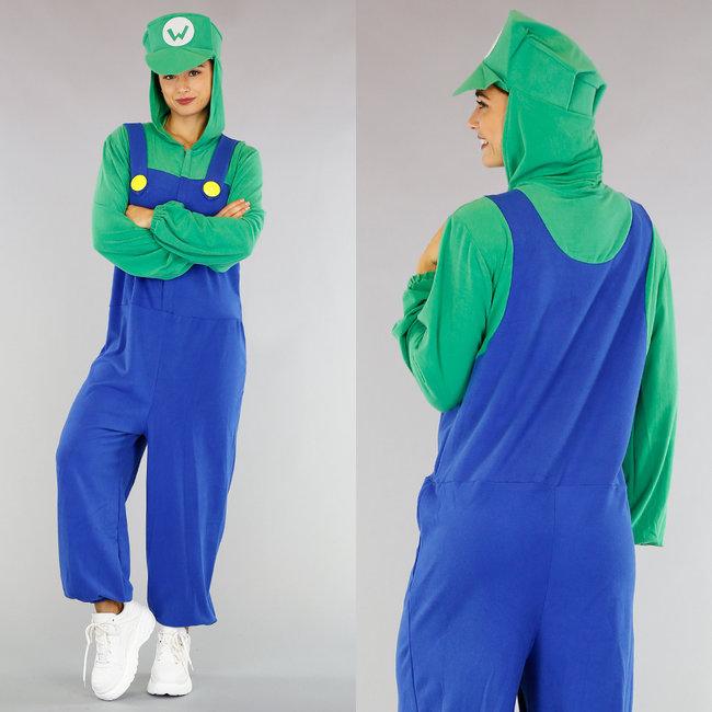 Oversized Luigi Onesie Kostuum