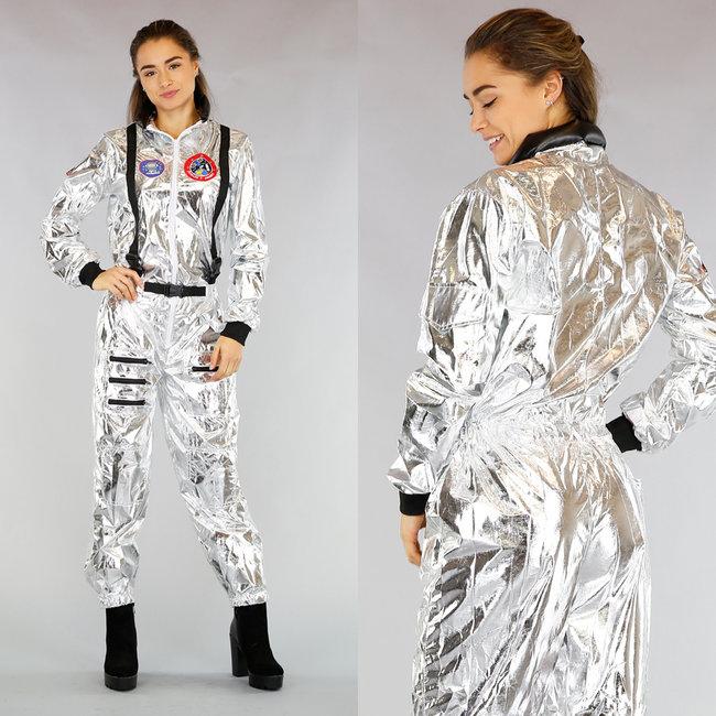 Metallic Astronaut Kostuum