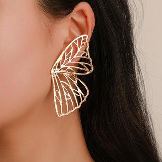 NEW2412 Gouden Butterfly Oorbellen