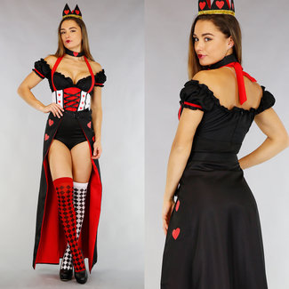 Queen of Hearts Body Kostuum met Accessoires