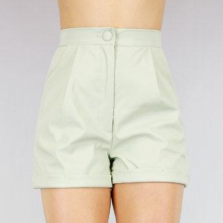 OP=OP Lederlook High Waist Short Groen
