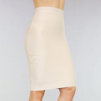 NEW2602 Basic Nude High Waist Bandage Rok