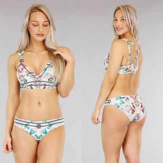 Longline Print Bikini