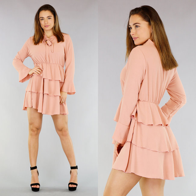 Roze Layer Dress met Strikje