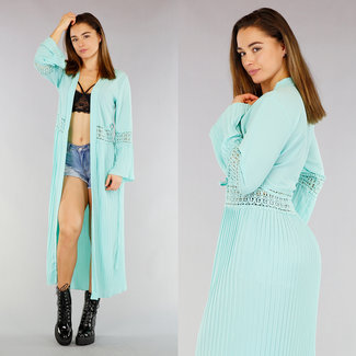 NEW1803 Mint Chiffon Cover-Up Vest
