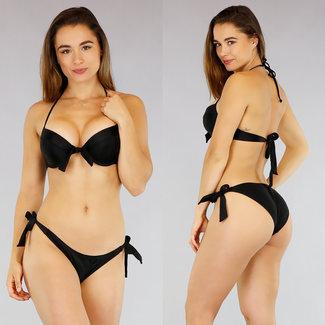 Zwarte Voorgevormde Halter Bikini