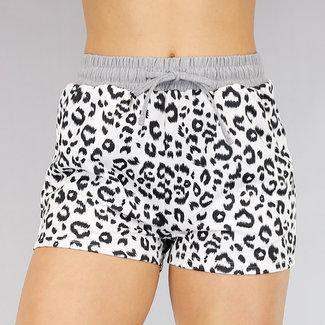 Comfy Stretch Short met Luipaardprint