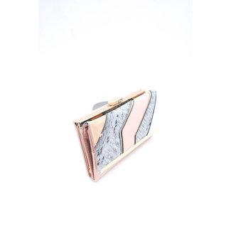 Roze Snake Portemonnee met Gouden Details
