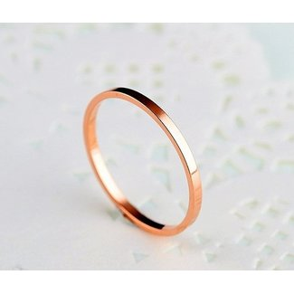 Basic Rosé Ring Stainless Steel