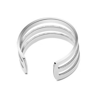 Basic Drie Dubbele Stainless Steel Ring Zilver