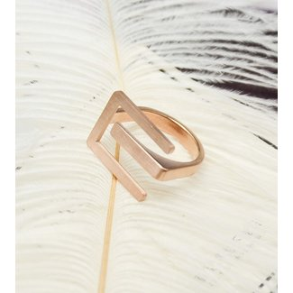 Grove Logo Ring Rosé Stainless Steel