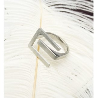 Grove Logo Ring Zilver Stainless Steel