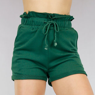Stretch Paperbag Short Groen