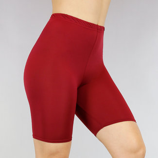 Wijnrood Stretch Bicycle Short