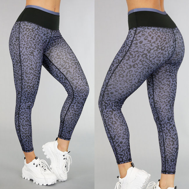 NEW0306 High Waist Leopard Sportlegging