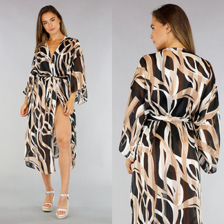 NEW1706 See-Through Cover-Up met Print