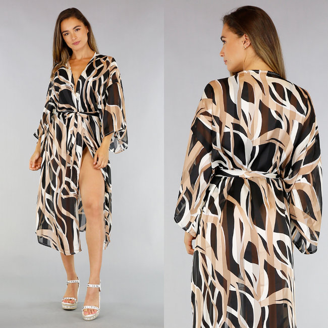 See-Through Cover-Up met Print