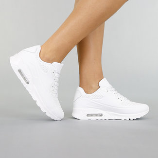 !OP=OP. Witte Sneakers met Lucht Zool