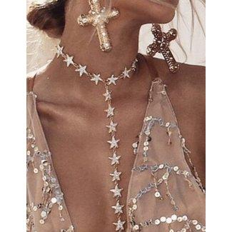 NEW0508 Gouden Body Jewelry met Sterren