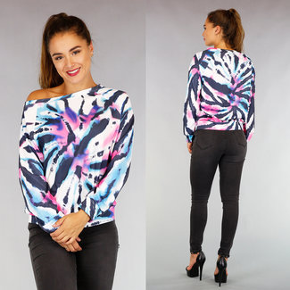 NEW0508 Comfy Oversized Tie Dye Sweater