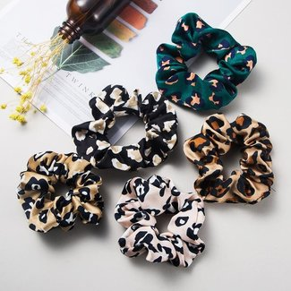 NEW2309 Panterprint Scrunchie