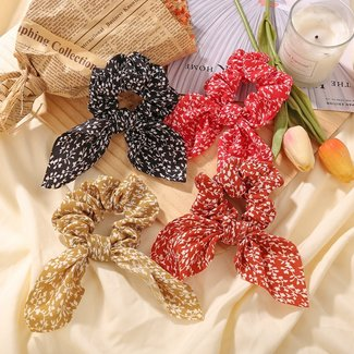 NEW2309 Scrunchie met Knoopdetail