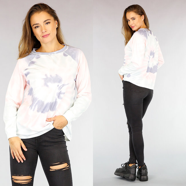 Loose-Fit Comfy Tie Dye Sweater