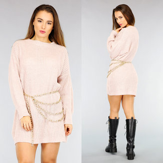 NEW2110 Oudroze Oversized Knitted Sweater Dress