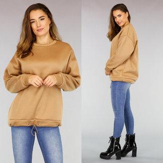 Halflange Bruine Loose-Fit Sweater