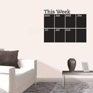 Weekplanner Muursticker