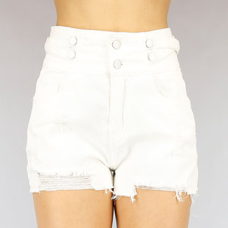 NEW1703 Wit High Waist Distressed Short