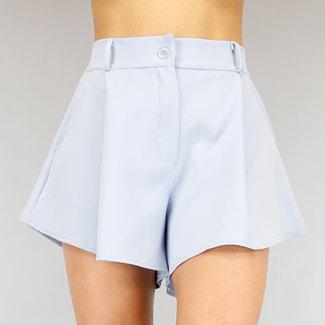 OP=OP Basic Lichtblauw Wide Leg Pantalon Short